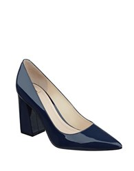 Marc Fisher Jenny Patent Leather Pumps Navy Blue