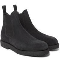 Officine Generale Suede Chelsea Boots Gray