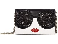 Alice Olivia Stace Face Glitter Long Wallet Crossbody Multi Cross Body Handbags