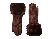Ted Baker Jania Fur Lined Leather Gloves Oxblood Extreme Cold Weather Gloves Red