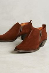 Anthropologie Sacha Moto Booties Brown