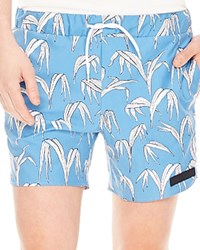 Sandro Tropic Swim Trunks Blue