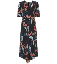 See By Chloe Printed Midi Dress Multicoloured