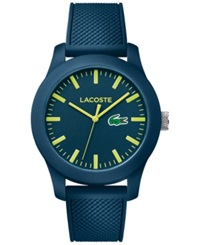 Lacoste Men's 12.12 Navy Silicone Strap Watch 43Mm 2010792