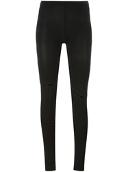 Maison Martin Margiela Mm6 Cut Out Leggings Black