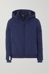 Lndr Hooded Quilted Padded Shell Jacket Navy