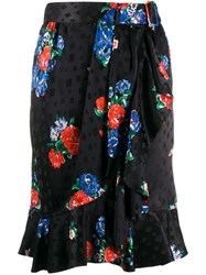 Tory Burch Floral Print Wrap Skirt 60