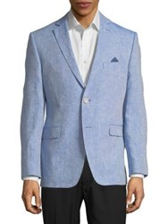 Black Brown Jack Slim Fit Blazer Jacket Light Blue