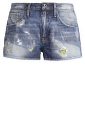 G Star Gstar Arc Bf Short Denim Shorts Medium Aged Antic Restored 126 Destroyed Denim