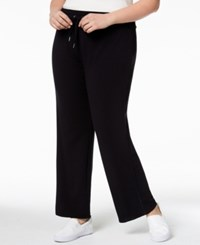 Styleandco. Style Co Plus Size High Rise Boot Cut Sweatpants Created For Macy's Deep Black
