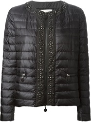 Moncler Beaded Padded Jacket Black