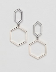 Missguided Silver Drop Earrings Gold