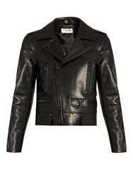 Saint Laurent L01 Leather Biker Jacket Black