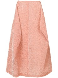 Comme Des Garcons Vintage Puffy Textured Pink Skirt Pink And Purple