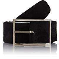 Simonnot Godard Men's Reversible Suede Belt Black Blue Black Blue
