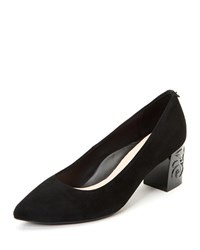 Taryn Rose Marigold 60Mm Heel Suede Pumps Black
