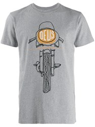 Deus Ex Machina Printed T Shirt Grey