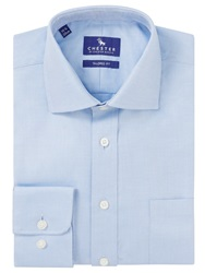 Chester By Chester Barrie Twill Tailored Shirt Blue