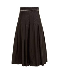 6 Moncler Noir Kei Ninomiya Eyelet Chain Pleated Skirt Black