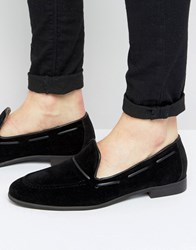 New Look Loafers With Lace Detail In Black Black