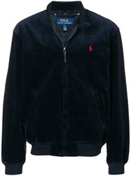 Polo Ralph Lauren Band Collar Corded Jacket Blue