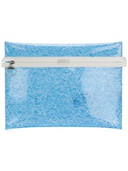Maison Martin Margiela Mm6 Transparent Clutch Blue