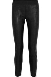 Stella Mccartney Darcelle Faux Leather And Jersey Leggings Black