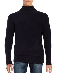 Laboratory Lt Man Pouch Pocket Turtleneck Sweater Navy