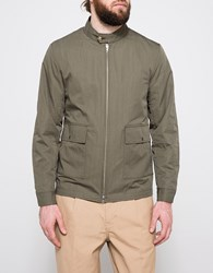 Still By Hand Stand Collar Jacket Olive