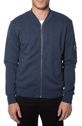 Men's 7 Diamonds 'Ancona' Knit Bomber Jacket Navy