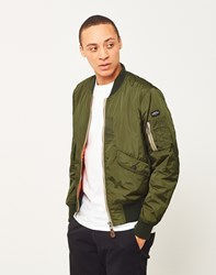 Schott Nyc Light Padded Ma 1 Bomber Jacket Green