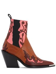 Paco Rabanne 85Mm Leather Ankle Boots Tan