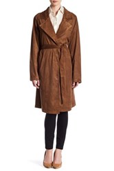 Bb Dakota Zalika Faux Suede Coat Brown