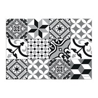 Hibernica Large Tiles Vinyl Placemat Black White