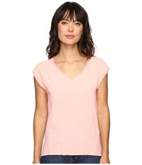 Calvin Klein Jeans Trend Table V Neck T Shirt Pucker Pink Women's T Shirt