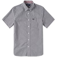 Fred Perry Short Sleeve Gingham Shirt Black