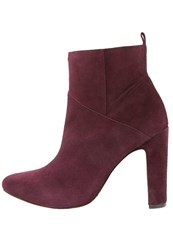 Rachel Zoe Elizabeth High Heeled Ankle Boots Wine Bordeaux