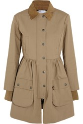Red Valentino Cotton Mackintosh Coat Nude
