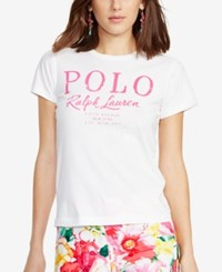 Polo Ralph Lauren Flagship Cotton T Shirt White Bright Royal