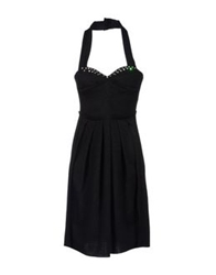 Tomaso Knee Length Dresses Black