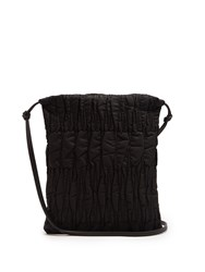 The Row Medicine Large Quilted Nylon Cross Body Bag Black