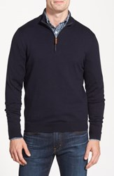Nordstrom Shop Half Zip Cotton And Cashmere Pullover