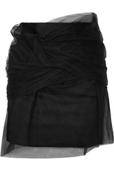 Y Project Twisted Tulle And Satin Mini Skirt Black Gbp