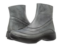 Naot Footwear Tellin Vintage Smoke Leather Women's Zip Boots Black