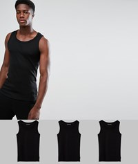 French Connection 3 Pack Lounge Vest Black White