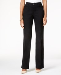 Charter Club Tummy Control Trouser Jean Only At Macy's Saturated Black