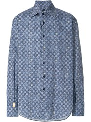 Billionaire Classic Collared Shirt Blue