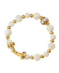 Golden Mother Of Pearl Beaded Bracelet Gold Jose And Maria Barrera