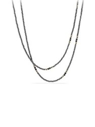 David Yurman Osetra Tweejoux Necklace With Hematine And Black Onyx In 18K Gold