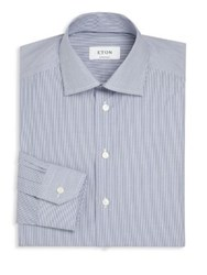 Eton Of Sweden Micro Striped Dress Shirt Blue